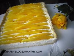Tarta kremowa z mango
