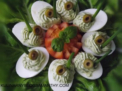 Jajka Faszerowane z pesto