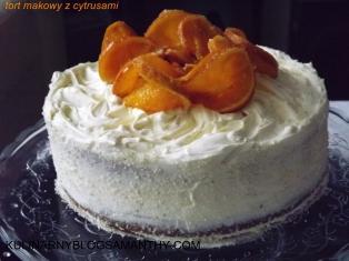 Tort Makowy z cytrusami