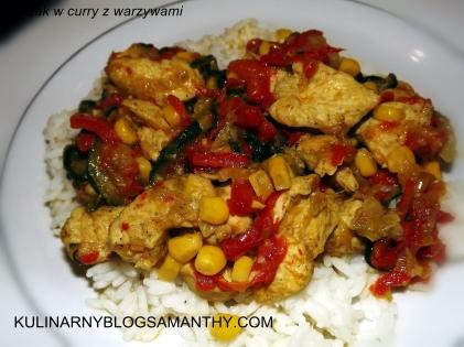 Kurczak w curry z warzywami