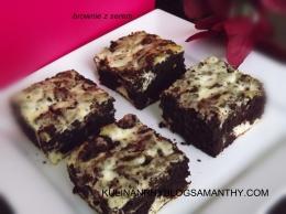Brownie z serem