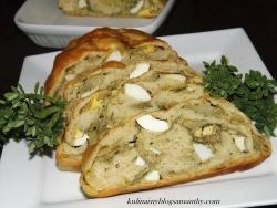 Kulebiak z kapustą i jajkami