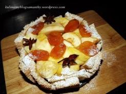 Jabłka z morelą w chlebie