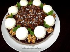 Torcik czekoladowo orzechowy