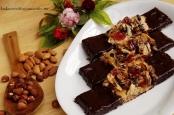 Ciastka czekoladowe z karmelizowanymi bakaliami