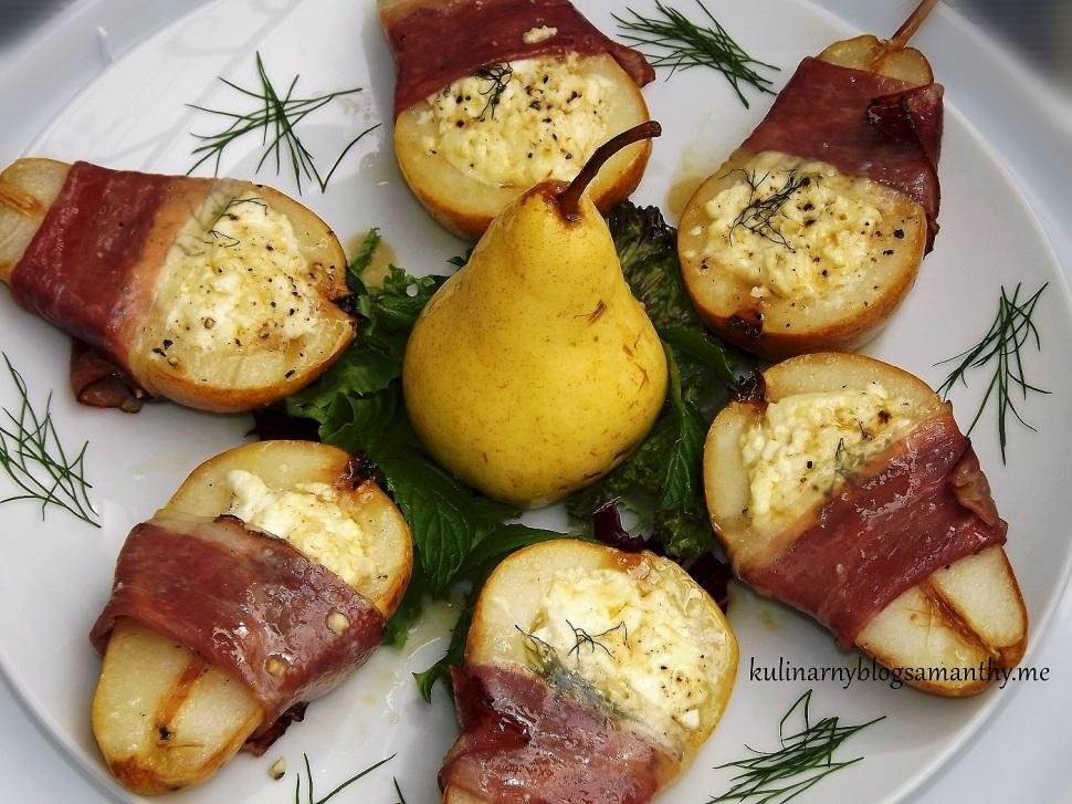 Gruszki pieczone z serem