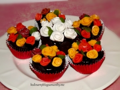 Muffinki różane na Walentynki