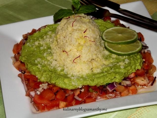 Sałatka z kuskusem w guacamole