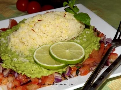 Sałatka z kuskusem z guacamole
