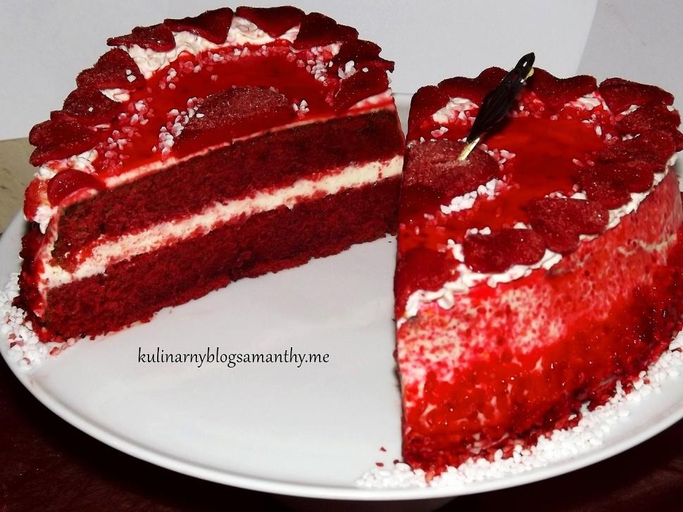 Walentynkowe serce red velvet