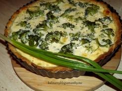 Tarta brokułowa z mozzarellą