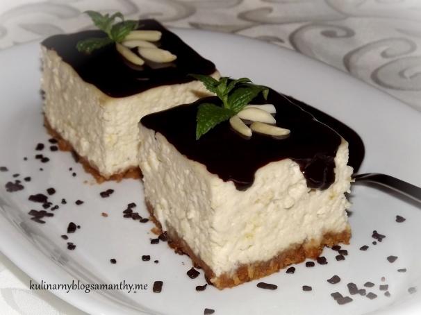 Sernik bananowy z czekoladą
