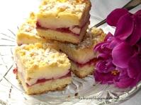 Ciasto z truskawkami i budyniem