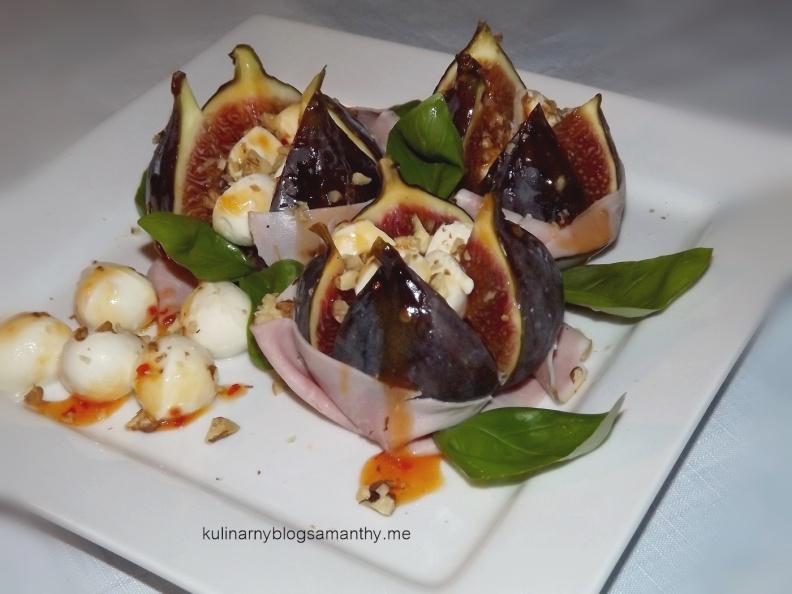 Figi z serem i szynką