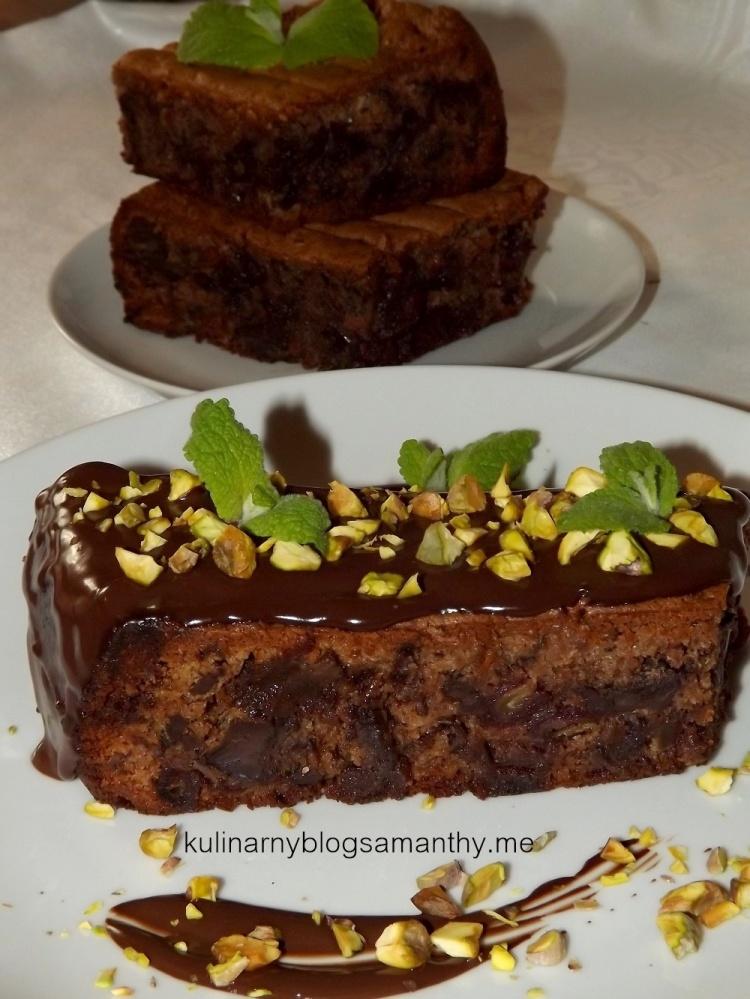 Ciasto chałwowe z daktylami