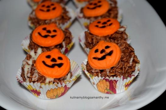 Ciasteczka kukurydziane na Halloween