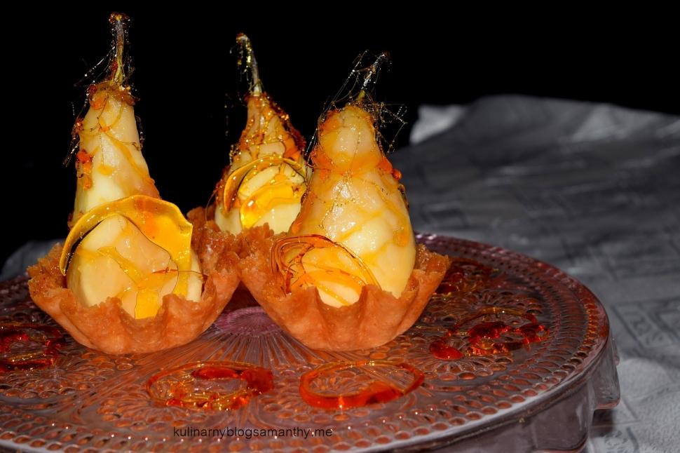 Gruszki w karmelowej pajęczynce