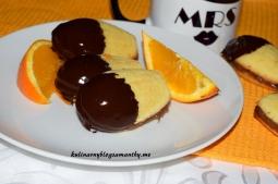Ciastka pomarańczowe z nutellą