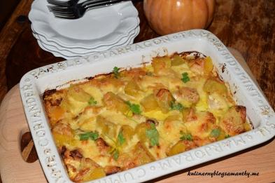 Zapiekanka z dyni, kurczaka i ziemniakami