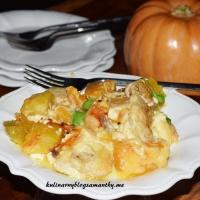 Zapiekanka z dyni, kurczakiem i ziemniakami