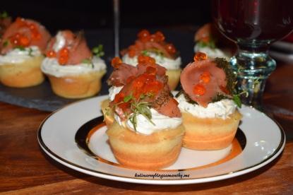 Muffinki limonkowe z łososiem