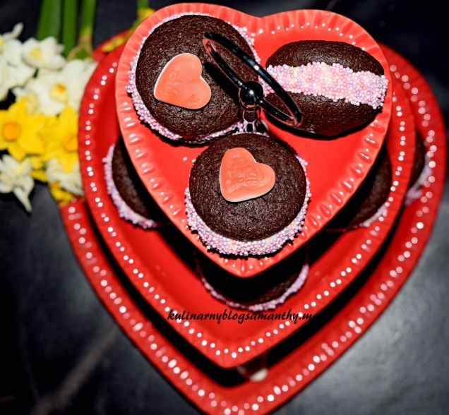 Ciastka czekoladowe na Walentynki