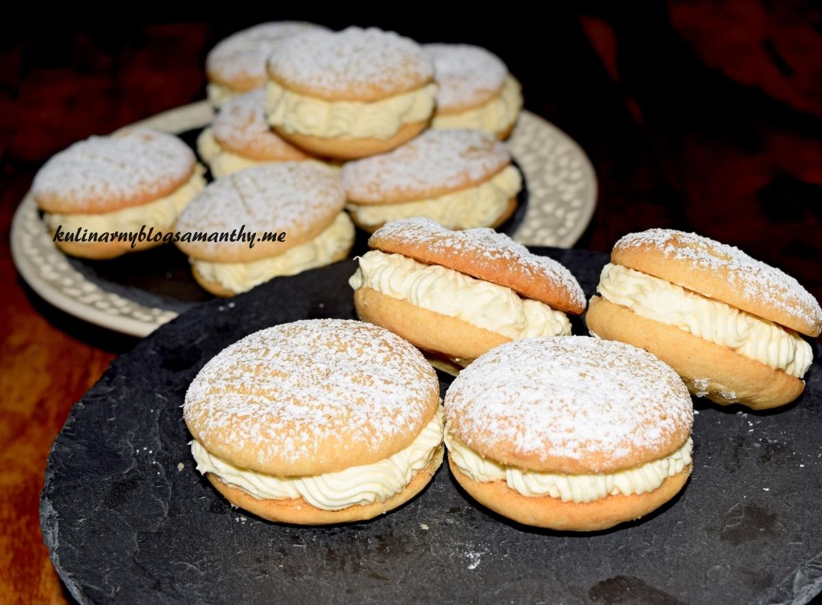 Kruche ciasteczka z kremem