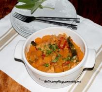 Dynia z kurczakiem w curry