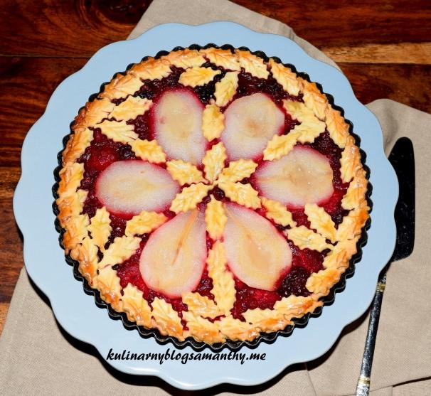 Tarta gruszkowa z musem owocowym