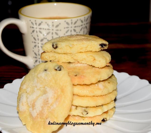 Ciasteczka maslane z rodzynkami
