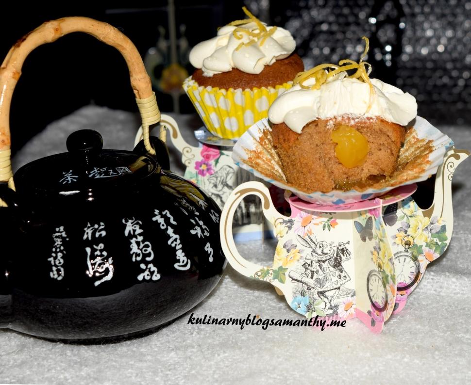 Muffinki Earl Grey z lemon curd