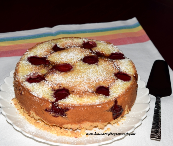Ciasto ze sliwkami odwrócone
