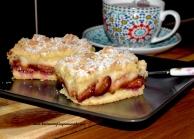 Ciasto ze sliwkami i kremem Patissiere