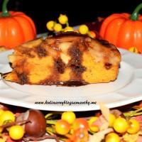 Ciasto dyniowe z jabłkami w toffi